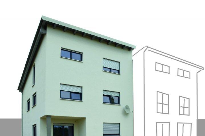 Doppelhaushälfte 154 Pultdach